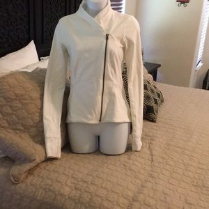 Lululemon white jacket with zipper front